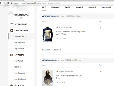 Dresslily - Excellent online shopping Experience