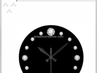 Zazzle - Bling wall clock