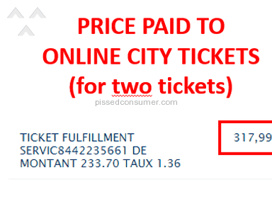 OnlineCityTickets - Do not trust. They're thieves!