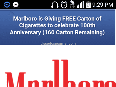 Marlboro - Codes for rewards are not going through? Jul 21, 2019