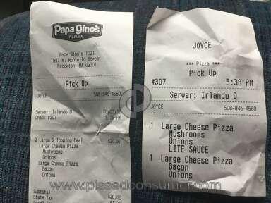 Papa Ginos - Awful Pizzas