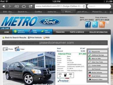Metro Ford Dealers review 12075
