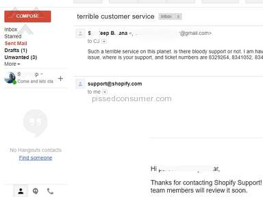 Shopify - Worst customer service in the world