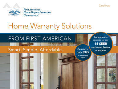 First American Home Warranty Homeowners Policy Claim review 174334