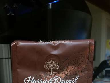 Harry And David - Coffee has chemical odor taste and false advertisment