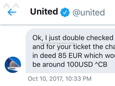 United Airlines Customer Care review 236694