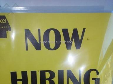 Sally Beauty Supply - Sally Beauty has messed up hiring practices