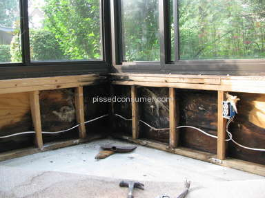Four Seasons Sunrooms - Water damage in the knee wall of my sunroom