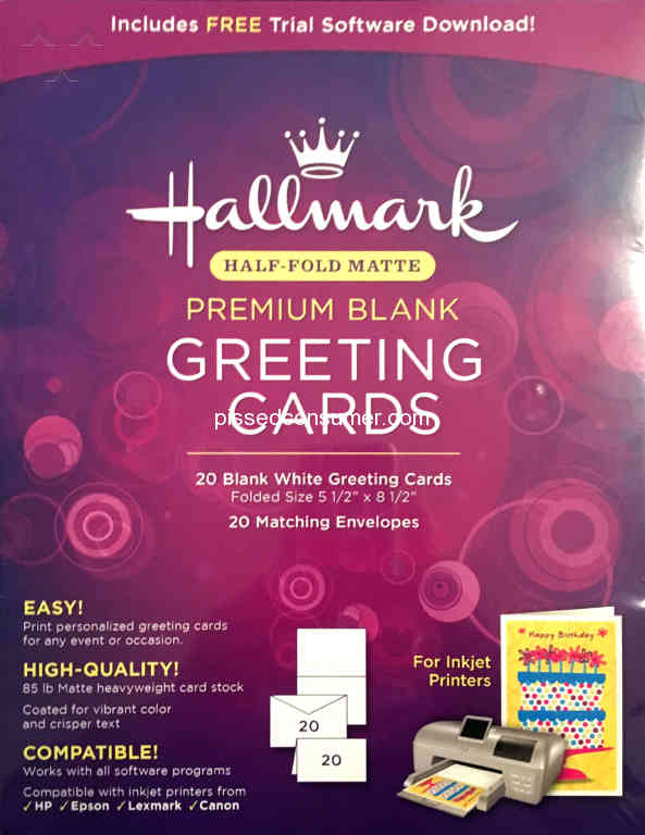 23 hallmark software reviews and complaints pissed consumer hallmark software lied about the card stock m4hsunfo