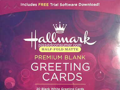 Hallmark Software - Lied about the card stock