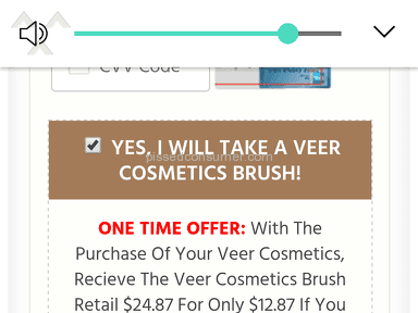 Veer Cosmetics - They sent me some cheap brush for,contouring and not the foundation brush they display!