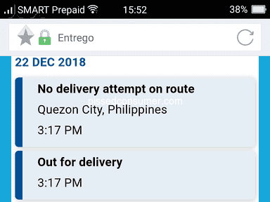 Lazada Philippines - Lazada- entrego delivery attempt lies. Order# 216519106896218