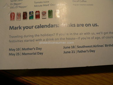 "Southwest Airlines - Southwest's ""Mark your calendar, the drinks are on us"" Promotion"