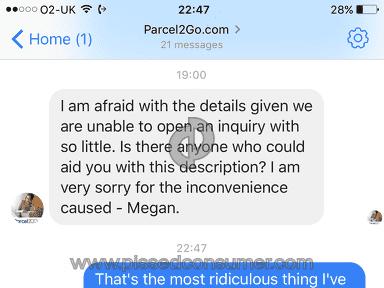 Parcel2Go - Lost parcel! Bad customer service. Incompetent