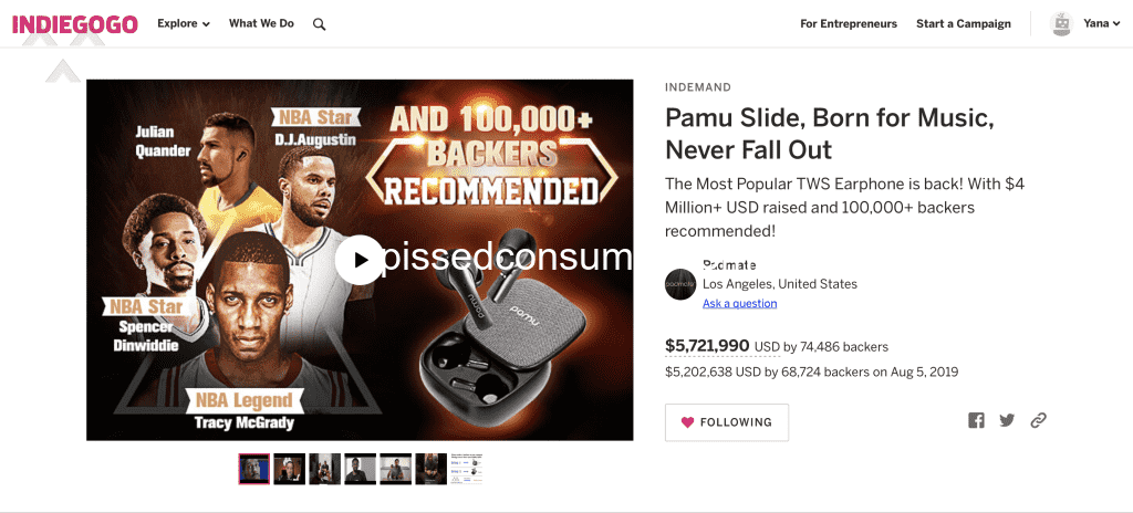 87 Indiegogo Reviews and Complaints @ Pissed Consumer