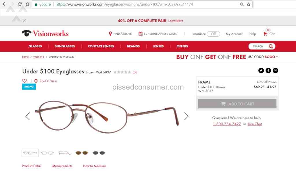 12aa5084c6e 66 Visionworks Eyeglasses Complaints and Reports   Pissed Consumer