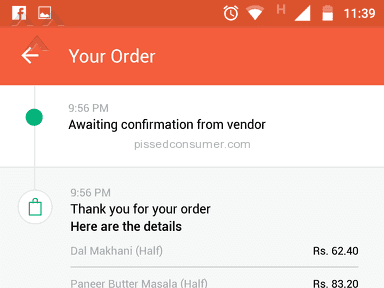 Foodpanda - Delivery Service Review from Ghaziabad, Uttar Pradesh