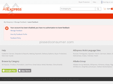 Aliexpress Account review 210220