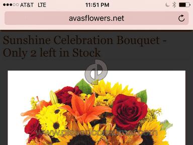 Avasflowers Sunshine Celebration Bouquet review 172372