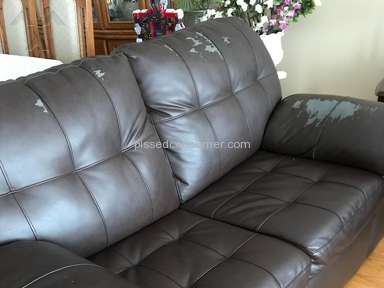 Bad Boy Furniture - Misleading warranty - refusal to honour an added on warranty - Faux Leather Sofas Peeling
