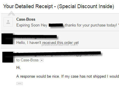 Case Boss - Did not receive my product