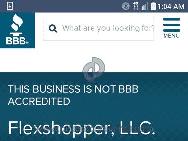 Flexshopper - NOT BBB ACCREDITED