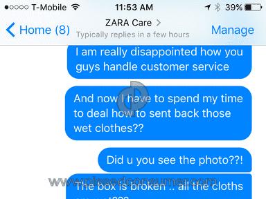 Zara Customer Care review 186934