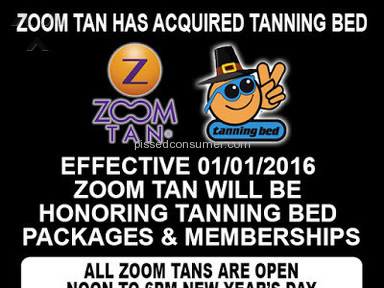 Zoom Tan - Review in Beauty Centers and Spas category from Buffalo, New York