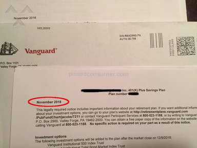 Vanguard Group Customer Care review 174048