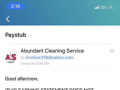 AbundantCleaningService Com - Business is a fraud and scam using other people to work as her then firing them upon receiving payment from you guys