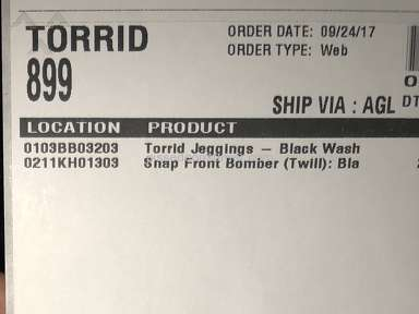Torrid Footwear and Clothing review 233732