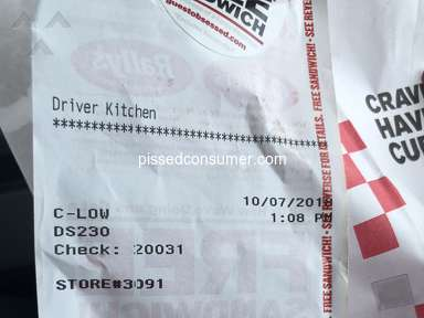 Checkers Drive In - Bad food and customer service