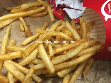 McDonalds - Sold me stale, hard fries