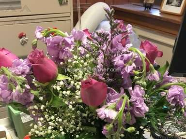 Ftd - $75.00 for a wilted arrangement