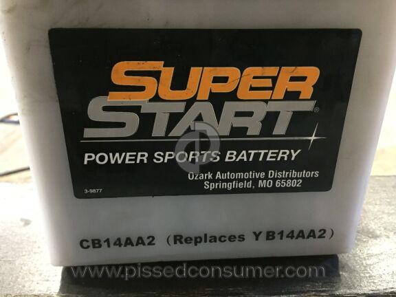 Superstart Batteries Motorcycle Battery