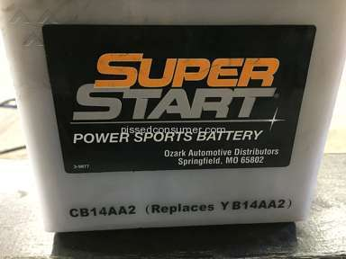 Oreilly Auto Parts Superstart Batteries Motorcycle Battery review 169500