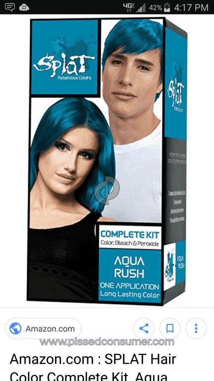 Splat Hair Color Certain Colors Dec 30 2017 Pissed Consumer