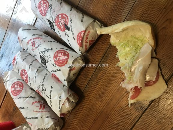 Jimmy Johns Turkey Breast Sandwich