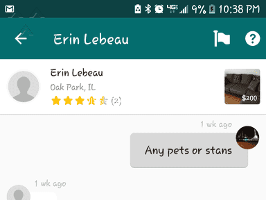 Offerup - Pet hair all of the sofa set I purchase