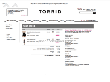 Torrid - Missing orders and lack of customer service