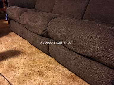 Lazboy - Loose upholstery on newly delivered furniture