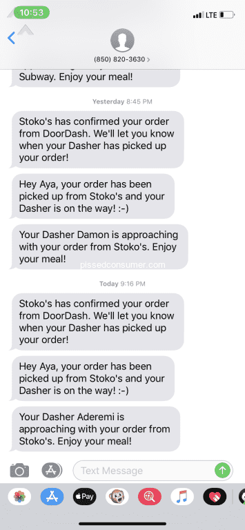 1128 DoorDash Reviews and Complaints with Media Page 19