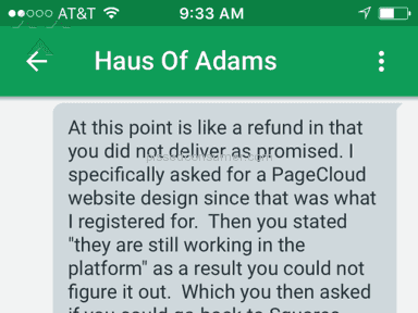 Bad Experience with Haus of Adams