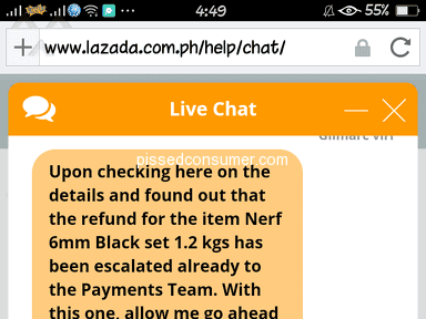 Lazada Philippines Customer Care review 280336