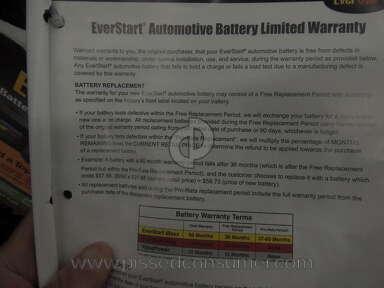 Walmart auto battery warranty complaint