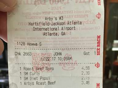 Arbys - Horrible. Made me nauseous. Could have thrown up