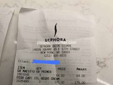 "Sephora - Bought a ""counterfeit"" product"