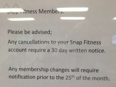 Snap Fitness Facility review 54953