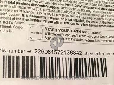 Kohls Cash Rewards Program review 221726