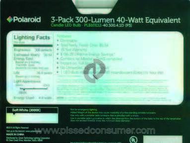 Menards Polaroid Light Bulb review 189646